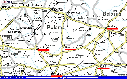 Grodno Area Map